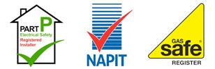 gas safe napit part p accreditations